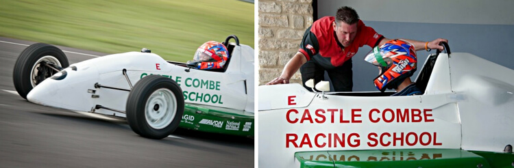 single seater cars at Castle Combe Race Circuit