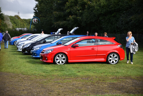 club displays at summer action festival at Castle Combe