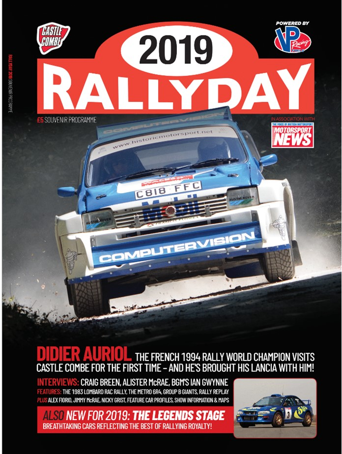 Rallyday 2019 Programme