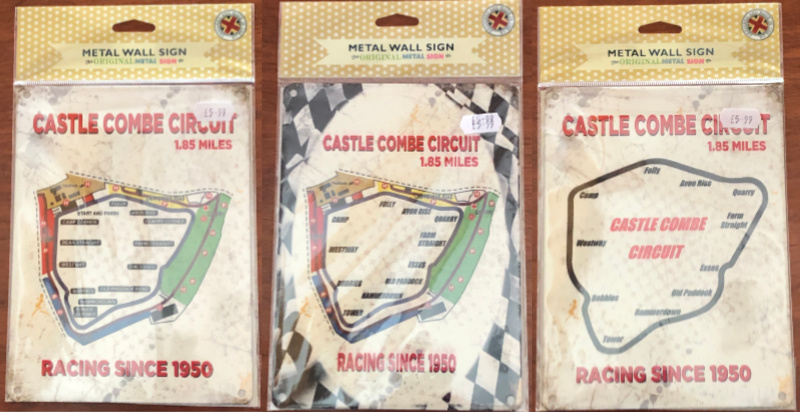 Castle Combe Circuit small metal sign