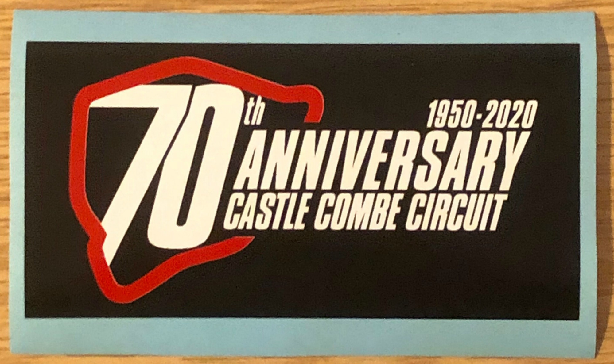 The 70th anniversary sticker
