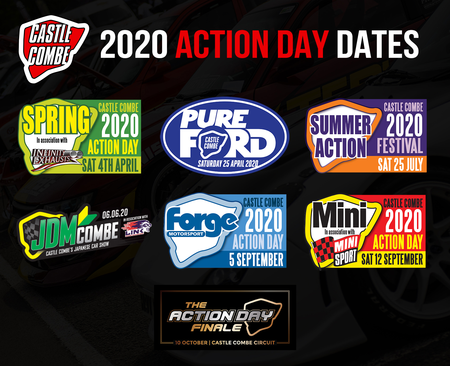 ACTION DAY DATES REVEALED FOR CASTLE COMBE CIRCUITS 2020 CALENDAR