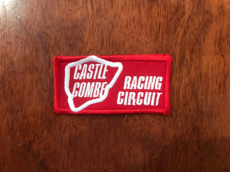 Castle Combe Circuit sew-on embroidered patches