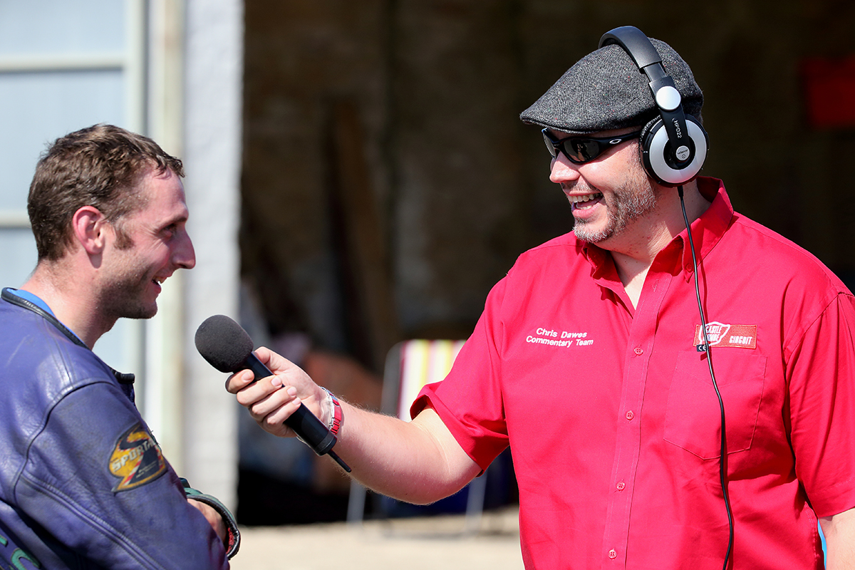 COMMENTATOR CHRIS DAWES INTERVIEWED IN WEDNESDAY'S COMBE TV EPISODE