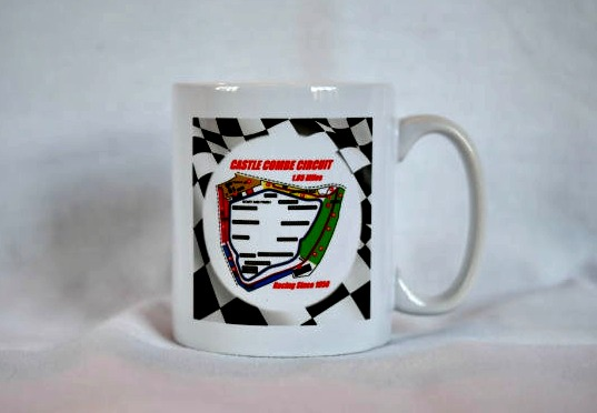 Circuit Map with Chequered Flag Ceramic Mug