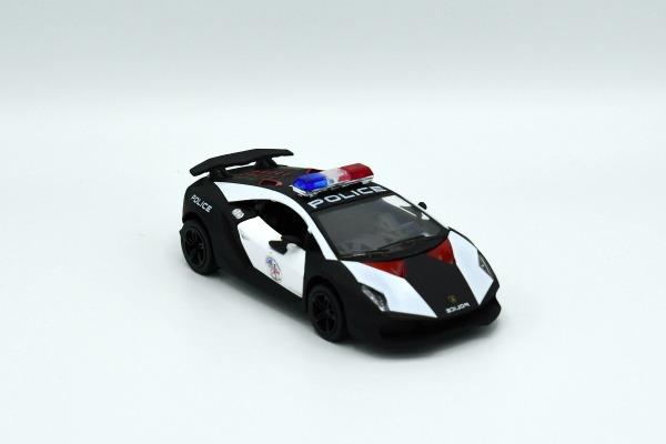 Kinsmart Die cast Lamborghini Sesto-Elemento Police Car