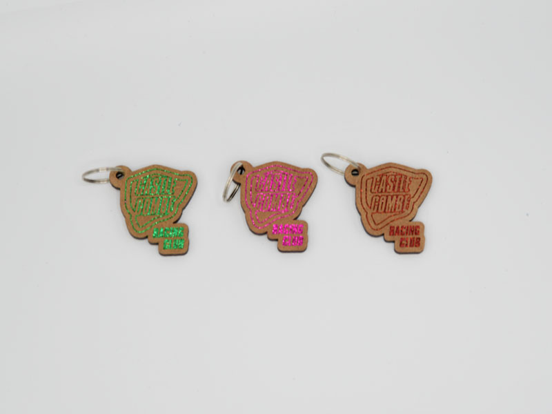 Castle Combe Glittery Key Rings