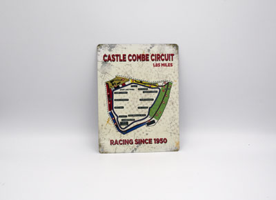 Castle Combe Circuit Small Metal Sign - Map