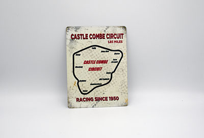 Castle Combe Circuit Small Metal Sign - Outline