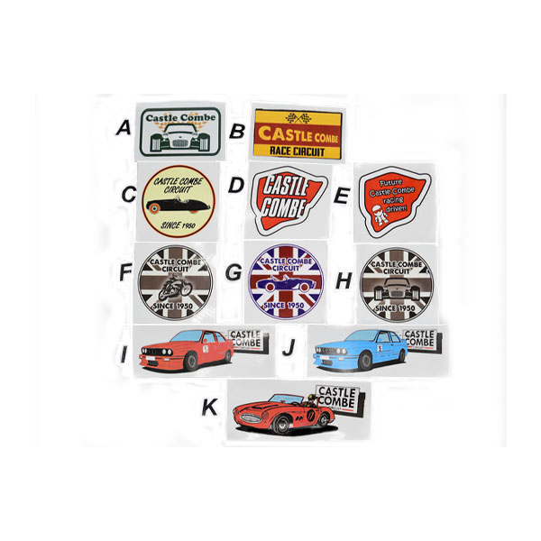 Castle Combe Circuit Vinyl Decals