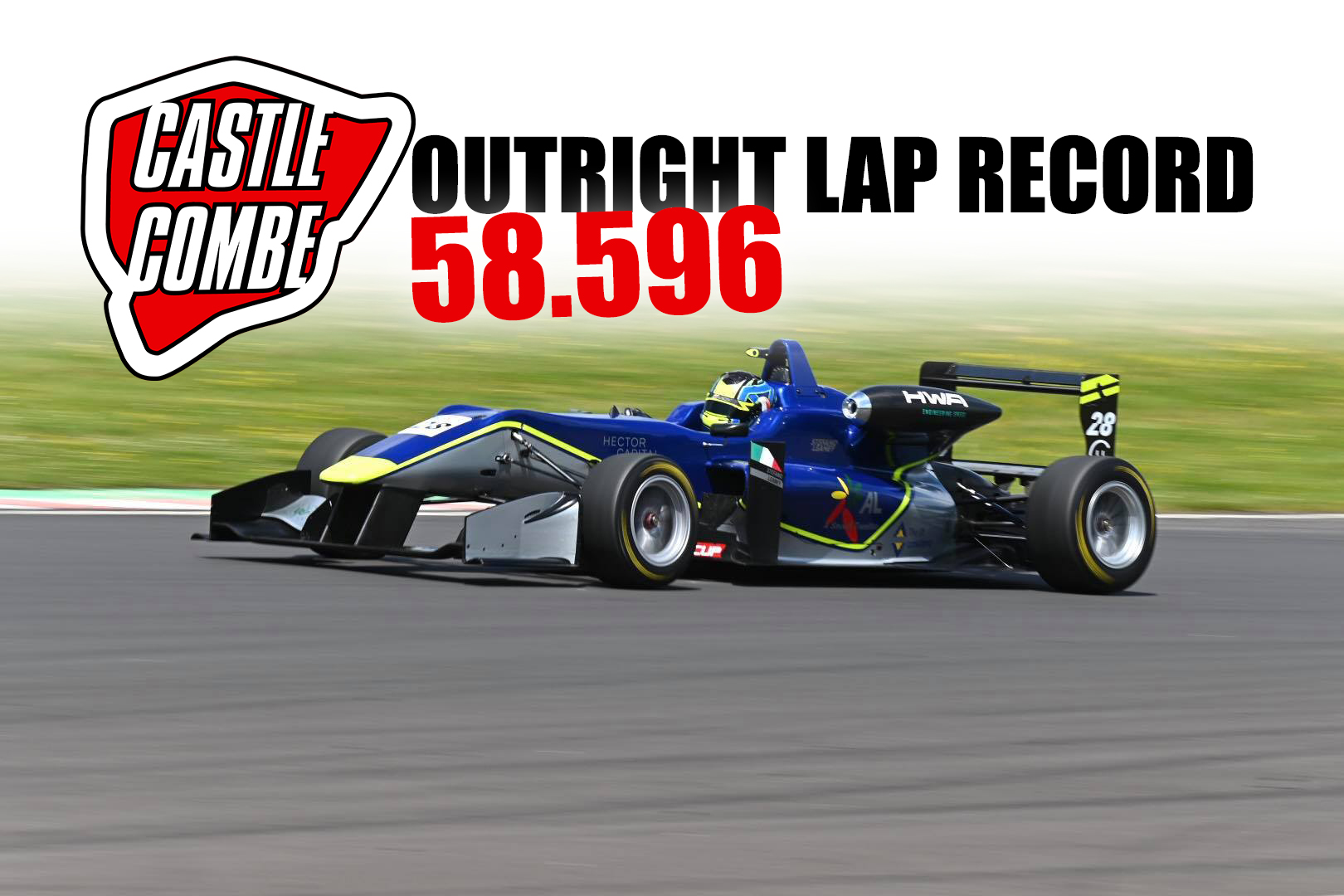 OUTRIGHT LAP RECORD BROKEN AS F3 DESCENDS ON CASTLE COMBE CIRCUIT